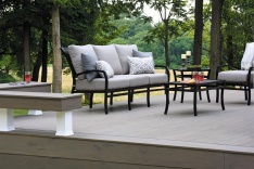 TimberTech Deck with lounge space and built-in bench seating
